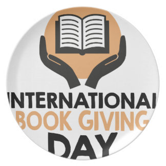 14th February - International Book Giving Day Party Plate