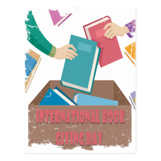 14th February - International Book Giving Day Postcard
