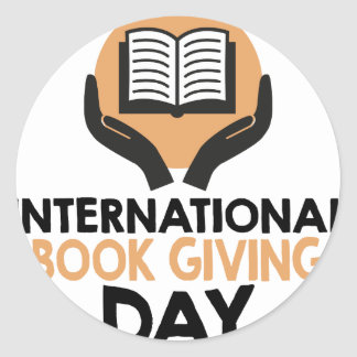 14th February - International Book Giving Day Round Sticker