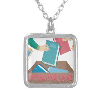 14th February - International Book Giving Day Silver Plated Necklace