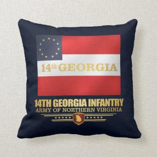 14th Georgia Infantry Throw Pillow