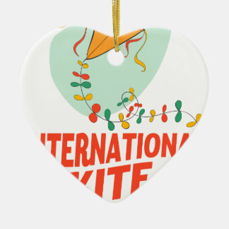 14th January - International Kite Day Ceramic Ornament