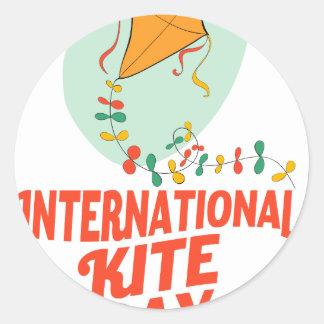 14th January - International Kite Day Classic Round Sticker