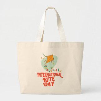 14th January - International Kite Day Large Tote Bag