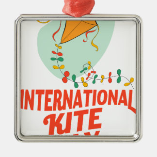 14th January - International Kite Day Metal Ornament