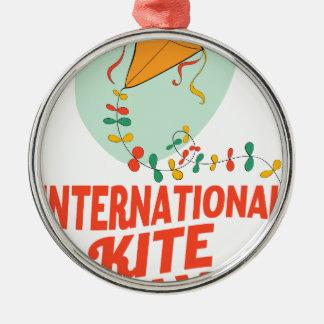 14th January - International Kite Day Metal Ornament