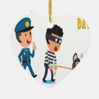 14th Pet Theft Awareness Day - Appreciation Day Ceramic Ornament