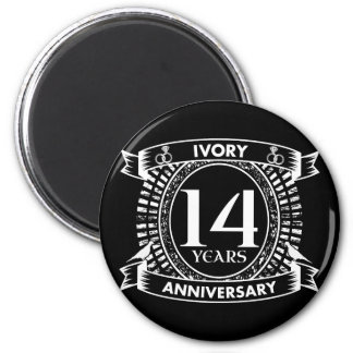 14TH wedding IVORY anniversary Magnet