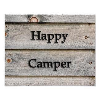 14x11 Happy Camper Photo Print