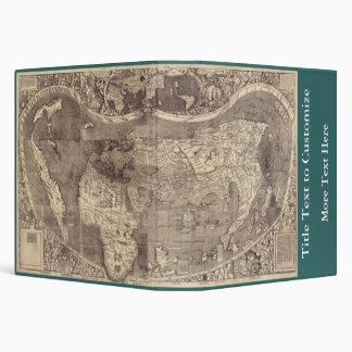 1507 Martin Waldseemuller World Map 3 Ring Binder
