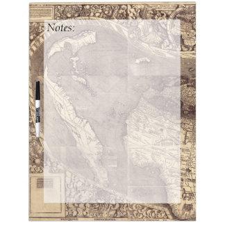 1507 Martin Waldseemuller World Map Dry-Erase Whiteboards