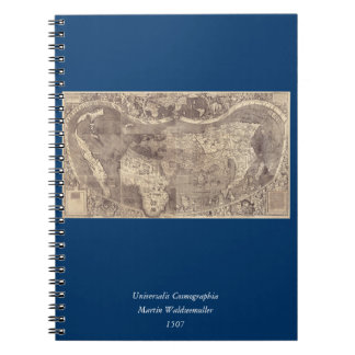 1507 Martin Waldseemuller World Map Notebook