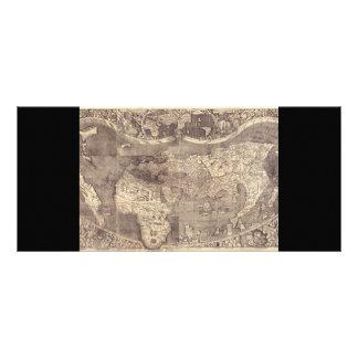 1507 Martin Waldseemuller World Map Rack Card Template