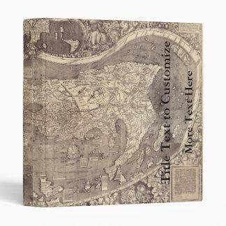1507 Martin Waldseemuller World Map Vinyl Binders