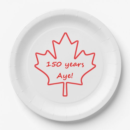 150 years of Canada 9 Inch Paper Plate