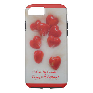 150th Canada Birthday Apple iPhone Hearts Case