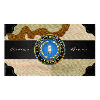 [154] CG: Lieutenant (Junior Grade) (LTJG) Business Card Template