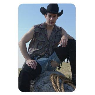 15631-RA Cowboy Rectangular Photo Magnet