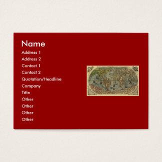 1565 Ferando Berteli (Fernando Bertelli) World Map Business Card