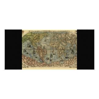 1565 Ferando Berteli Fernando Bertelli World Map Rack Card
