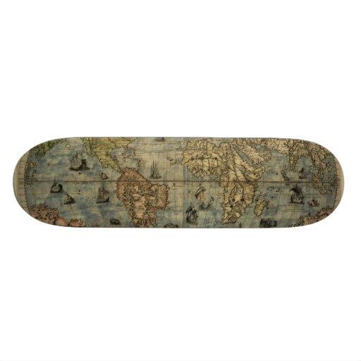 1565 Ferando Berteli (Fernando Bertelli) World Map Skate Decks