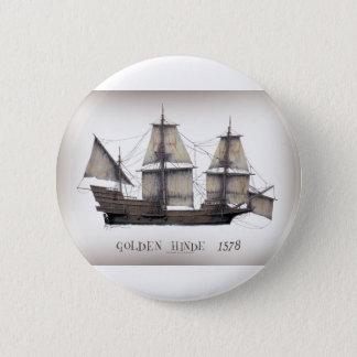 1578 Golden Hinde 2 Inch Round Button