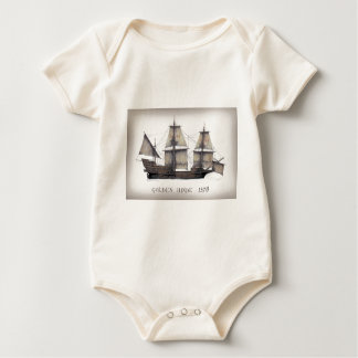 1578 Golden Hinde ship Baby Bodysuit