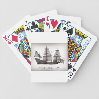 1578 Golden Hinde ship Bicycle Playing Cards