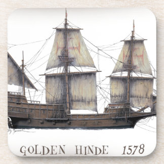 1578 Golden Hinde ship Coaster