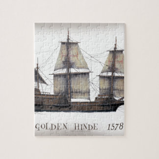 1578 Golden Hinde ship Jigsaw Puzzle