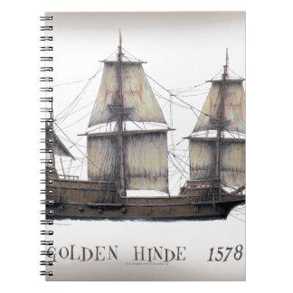 1578 Golden Hinde ship Notebook