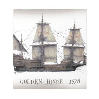 1578 Golden Hinde ship Notepad