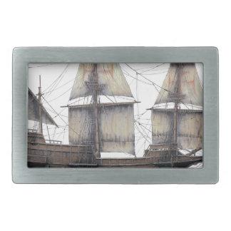 1578 Golden Hinde ship Rectangular Belt Buckle