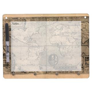 1581 Antique World Map by Nicola van Sype Dry Erase Boards