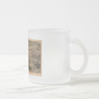 1581 Antique World Map by Nicola van Sype Frosted Glass Coffee Mug
