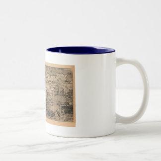 1581 Antique World Map by Nicola van Sype Coffee Mugs