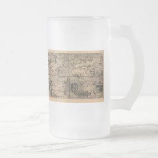 1581 Antique World Map by Nicola van Sype Mugs