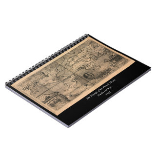 1581 Antique World Map by Nicola van Sype Spiral Notebook