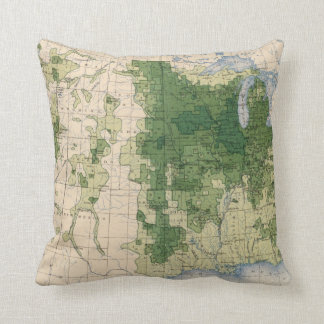 158 Oats/sq mile Throw Pillow