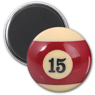 """15 ball"" pool ball design gifts and products magnet"