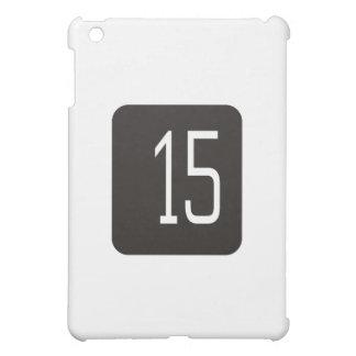 #15 Black Square iPad Mini Cases