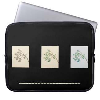 15 inch botanical laptop sleeves