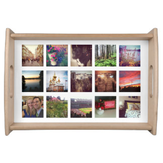 15 Instagram Photos on White Serving Tray