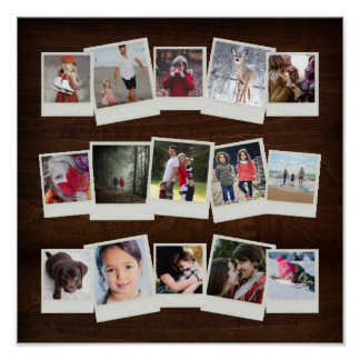 15 Instant Film Photos Photo Gift Collage Poster
