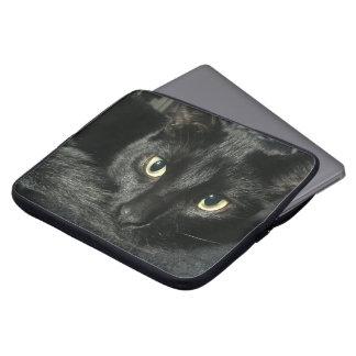 "15"" laptop case with black cat"