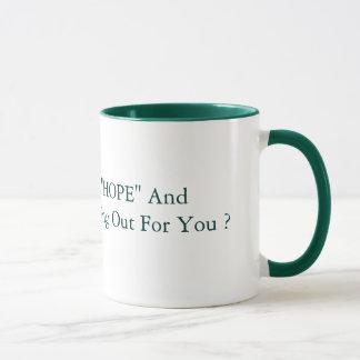 """15 oz """"HOPE"""" And """"CHANGE""""  Green. Mug"""