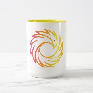 15 oz. Two Tone Mug with Phoenix