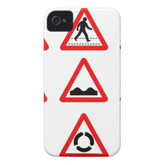 15 Triangle Traffic Signs iPhone 4 Case-Mate Cases