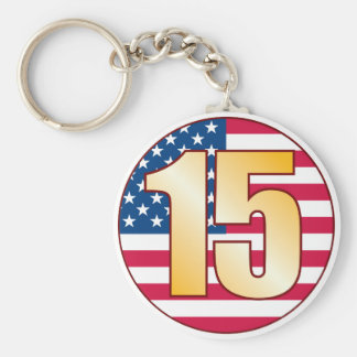 15 USA Gold Keychain