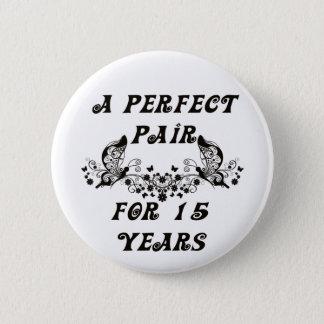 15 Year Anniversary 2 Inch Round Button